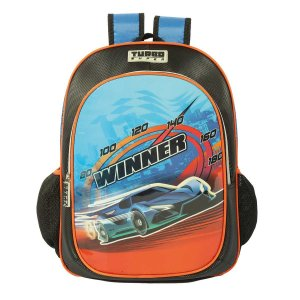 Mochila Escolar com Bolso Winner Turbo Super Colorizi
