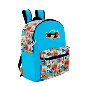 Mochila Mini Infantil com Bolso Adventure Kids Colorizi