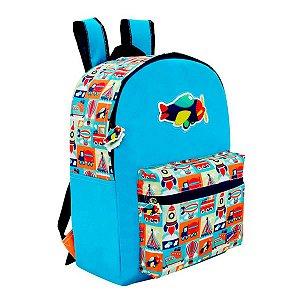 Mochila Escolar com Bolso Westipack Adventure Kids Colorizi
