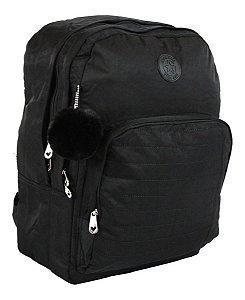 Mochila para Notebook Feminina Impermeável Preta Star Bag