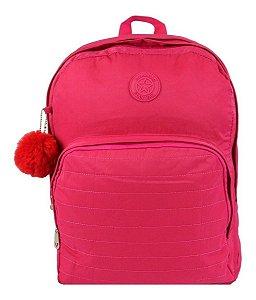 Mochila Escolar Notebook Feminina Impermeável Rosa Star Bag