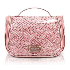 Necessaire de viagem em pvc rosa diamantes da Jacki Design