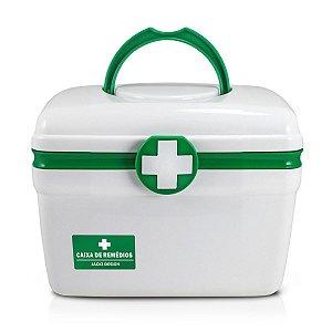 Caixa para remedios pequena Primeiros socorros Verde