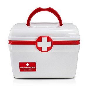 Caixa para remedios pequena Primeiros socorros Vermelha