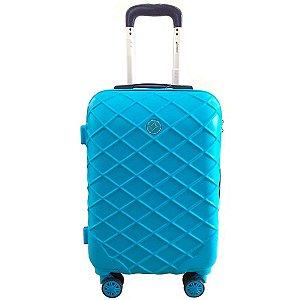 Mala De Viagem média Funchal Cruzeiro 2 cores azul-turquesa