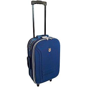 Mala De Viagem Pequena azul Rodinhas E Cadeado Batiki Azul