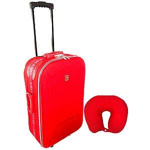 Mala pequena de viagem et665 vermelha + almofada de pescoço