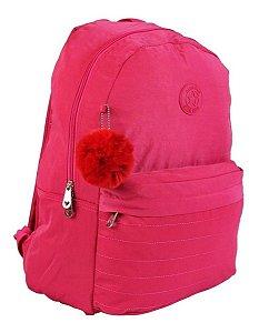 Mochila Escolar Feminina Impermeável Rosa Star Bag Original