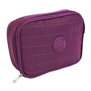Estojo escolar 100 Pens Impermeável roxo Star Bag