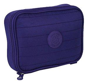 Estojo escolar 100 Pens Impermeável azul Star Bag