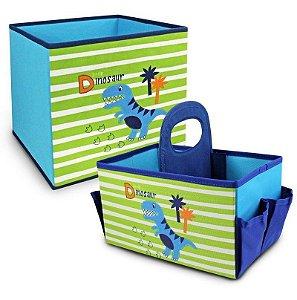 Kit 2 Organizadores de Brinquedos Dino Jacki Design