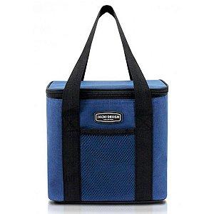 Bolsa Térmica Urbano azul com alça de mão Jacki Design