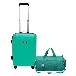 Mala de Viagem P Siena Abs giro 360 Com bolsa De bordo verde