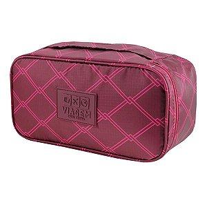 Bolsa Porta Lingerie organizador de malas Vinho Jacki Design