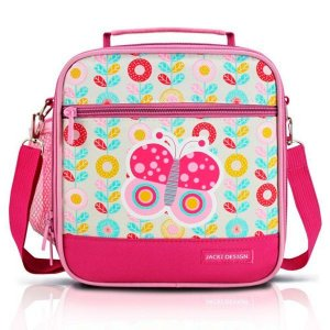 Lancheira Térmica Pequeninos borboleta pink Jacki Design