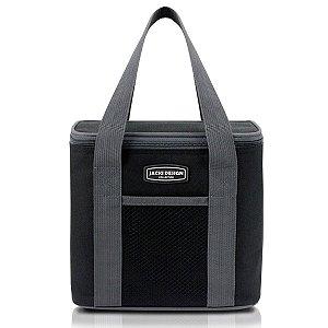 Bolsa Térmica com alça de mão urbano preto Jacki Design