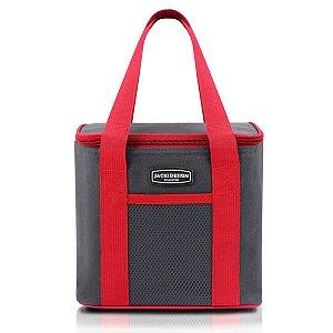 Bolsa Térmica com alça de mão urbano  cinza Jacki Design