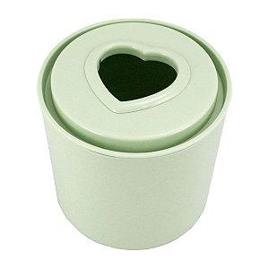 Porta Papel Higiênico Tampa Coração verde Jacki Design