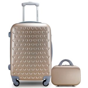 Kit mala De Viagem pequena maleta de bordo Love Jacki Design