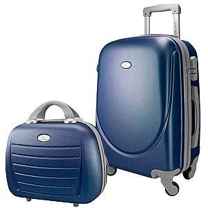 Kit Mala de Bordo para viagem 360° Select azul Jacki Design