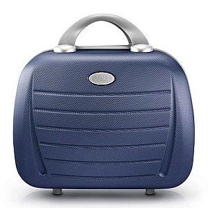 Maleta em Abs Select com alça carona azul Jacki Design