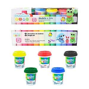 Massinhas de Modelar Coloridas 5 Potes Creative Kids Batiki
