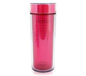 Copo Vermelho Isotérmico com e tampa 430 ml Jacki Design