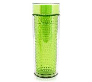 Copo Verde Isotérmico com Infusor  tampa 430 ml Jacki Design