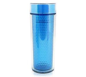 Garrafa 190 ml Com Vedação De Silicone Azul