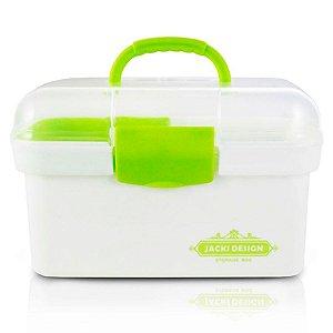 Caixa Organizadora pequena Jacki Design transparente verde