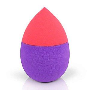 Esponja Gota de maquiagem para Base e Pó Jacki Design roxo