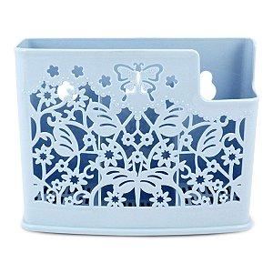 Cesto Organizador para Parede Azul Lifestyle Jacki Design