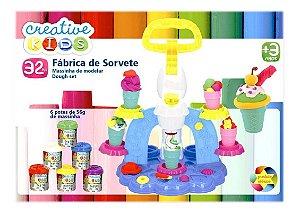 Massinha De Modelar Fábrica De Sorvete Creative Kids Batiki