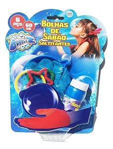 Bolhas De Sabão Saltitantes Com Luva Pequena Azul Bubblez