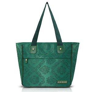 Bolsa Shopper Essencial Damasco Verde Com Bolso Jacki Design