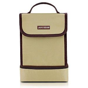 Bolsa Térmica 2 Compartimentos  Fitness marrom Jacki Design