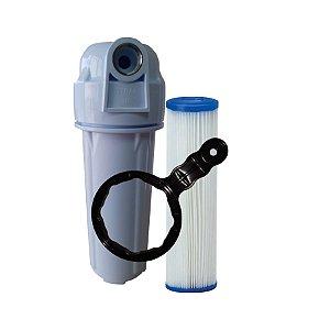 Filtro Água Para Caixa Dágua Cavalete Refil Lavavel Plissado Com Rosca INOX