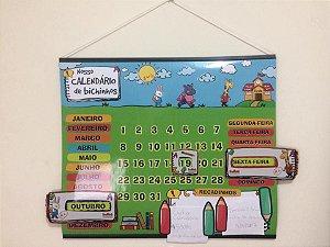 Cartaz Para Sala De Aula Calendário Bichinhos na Escola