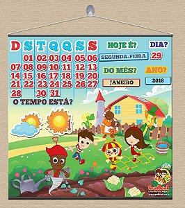 Cartaz Para Sala De Aula Calendário Sitio Do Picapau Amarelo