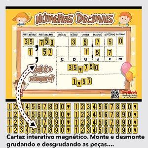 Cartaz interativo números decimais