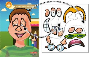 Cartaz Para Sala De Aula Jogo das Emoções - Menino