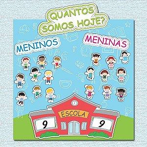 Cartaz Para Sala De Aula Quantos Somos - Escola