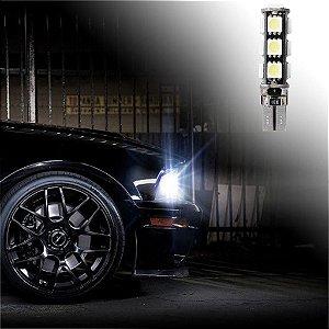 Par de Lâmpadas LED T10 13 LEDs Canbus Branco