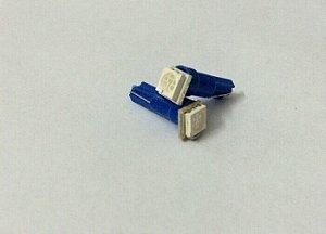 Par de Lâmpadas LED T5 1 Led painel Azul