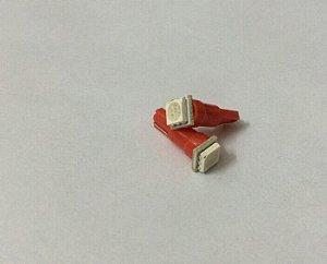 Par de Lâmpadas LED T5 1 Led painel Vermelho