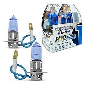 Lâmpadas Super Branca H3 Hid Xenon 8500k 55w Techone