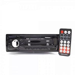 Rádio Automotivo First Option Mp3 Usb Sd Card Mod 6650 com controle remoto