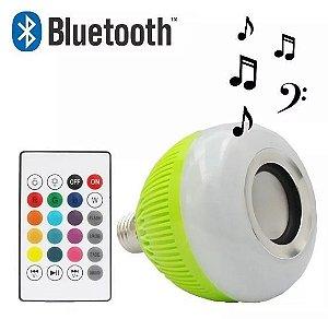 Lâmpada Musical Som Led Bluetooth Controle Muda De Cor Rgb