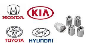 Porcas Antifurto Com Segredo Trava Rodas montadoras Honda Hyundai Kia Toyota