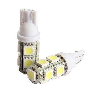 Par de Lâmpadas LED T10 9 Leds